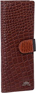 Laveri Genuine Leather Credit Card Holder Wallet Credit and Business Card Holder with Elastic Round Loop for Unisex - Leat...