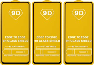 Dragon Black Frame Glass Screen Protector for Xiaomi Poco X2, Pack of 3 - Black