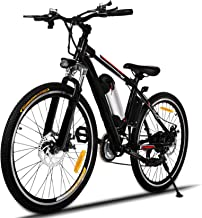 Hicient Electric Bike Electric Bicycle for Adult 26'' Electric Mountain Bike 250W Ebike 21 Speed Gear with Removable Lithi...
