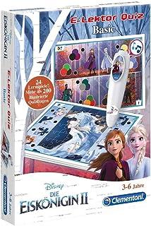 Clementoni Quiz Basic Disney 59141 E-leector, Frozen 2 (Frozen 2 (de ijskoning), interactief leerspel, speelgoed voor kind...