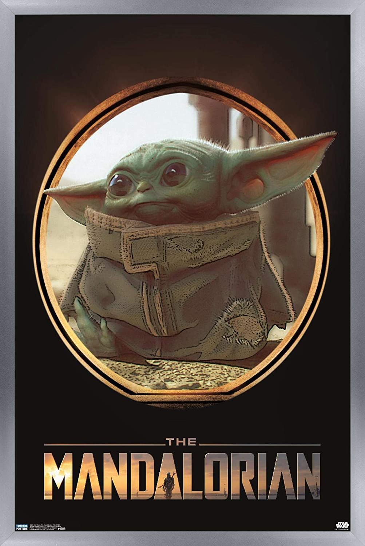 Star Wars The Mandalorian Protect Wall Poster 22x34 Wherever I Go He Goes Grogu