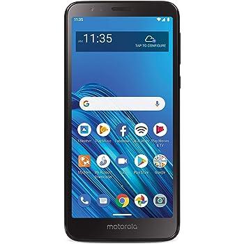 TracFone Motorola Moto E6 4G LTE Prepaid Smartphone (Locked) - Black - 16GB - Sim Card Included - CDMA