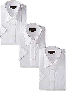 [スティングロード] 半袖 3枚セット レギュラーカラー 白ワイシャツ 形態安定 ノーアイロン 綿高率混 レギュラーフィット MA100-3 メンズ
