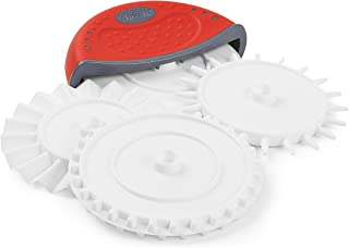 Dexas 4 in 1 Dough Prep Set Tool: Pizza Cutter, Cutting wheel, Fluted Wheel, Dough Docker