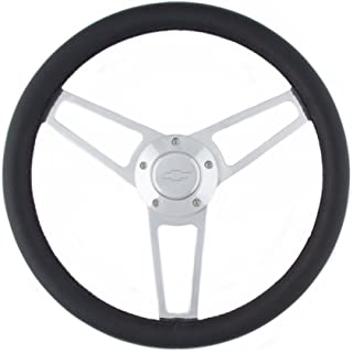 Grant 1901 Billet Series Leather Steering Wheel with Chevrolet Logo and Install KIt