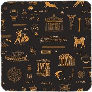 ZORIN Baby Swaddle filtar för pojkar flickor antik grekland historia krigare mönster svart nyfödd filt mjuk plysch amning ...