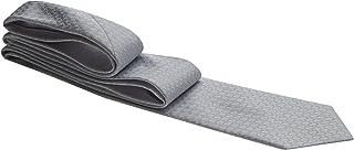 Gravata cinza claro com traços em formato de trama