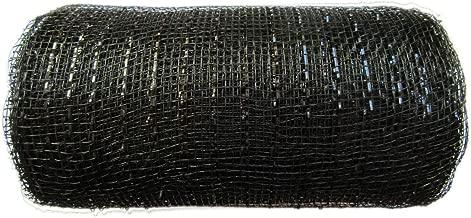 6 inch x 30 feet(10 Yards)-YYCRAFT Metallic Deco Poly Mesh Ribbon(Black)