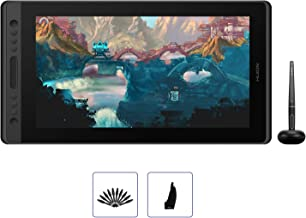 2019 HUION KAMVAS Pro 16 Drawing Tablet with Full Laminated Screen Battery Free Pen Display Graphics Monitor Tablet with 8192 Pressure Sensitivity, Tilt Function, 6 Express Keys and Touch Bar-15.6inch