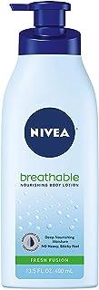 لوسیون بدن NIVEA Breathable Nourishing Body Fresh Fusion - بدون احساس چسبندگی ، پوست خشک تا خیلی خشک ، 13.5 اونس