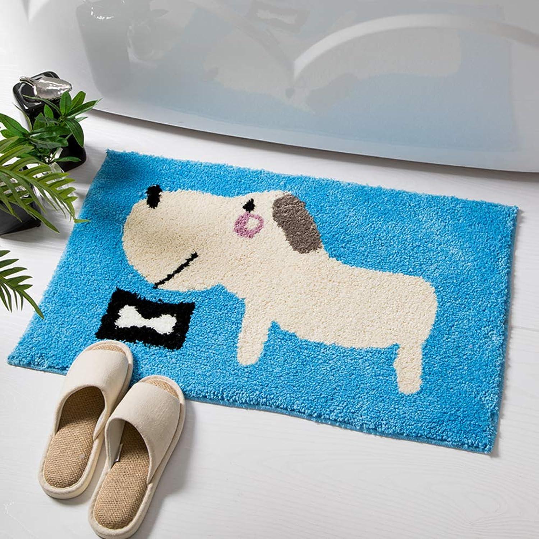Door mat, Bathroom Rug Non-Slip Carpet Door mat Bedroom Bedside Thick Carpet-bluee 50x80cm(20x31inch)