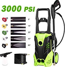 Homdox Electric High Pressure Washer 3000PSI 1.8GPM Power Pressure Washer Machine with Power Hose Gun Turbo Wand 5 Interchangeable Nozzles