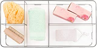 InterDesign Clarity Interlocking 5 Compartment Organizer for Cosmetics and Beauty Products, Large, Clear