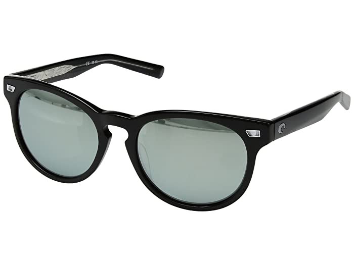 Costa  Del Mar (Shiny Black Frame/Gray/Silver Mirror 580G) Athletic Performance Sport Sunglasses