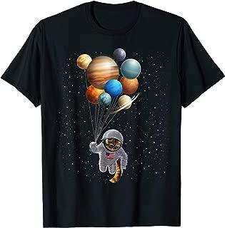 astronaut holding planet balloons shirt