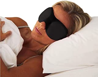Sleep Mask Contoured 3D Memory Foam Eye Mask With Earplugs and With Bag For Travel - For All Old People, Youth and Adults - Handy For All Office and Factory Employees