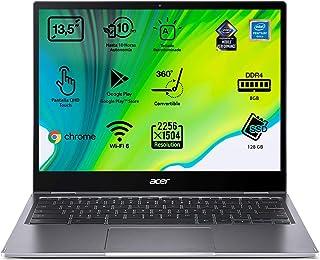"Acer Chromebook Spin 713 - Portátil convertible 13.5"" QHD (Intel Pentium Gold 6405U, 8GB RAM, 128GB eMMC, Intel UHD Graphi..."