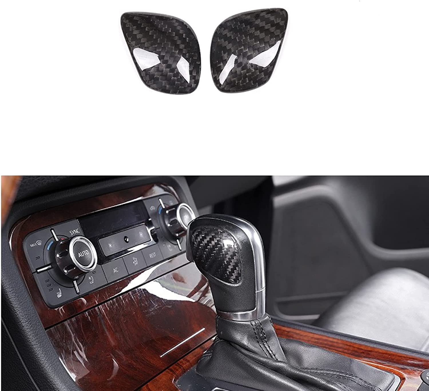 Real Carbon Fiber Miami Mall Gear Shift Cover Trim T Fit etta for Cheap mail order shopping Passat VW