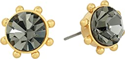 Flying Colors Bezel Studs Earrings