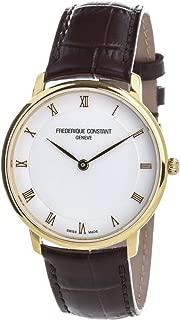 Frederique Constant Slimline White Dial Leather Strap Men's Watch FC200RS5S35