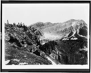 Historic Photos 1909 Photo Glacier National Park. On The Continental Divide. Kipps Summit Location: Glacier National Park, Montana