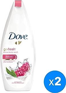 Dove Go Fresh Body Wash Pomegranate, 250ml (Twin Pack)