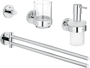 Grohe 40846001 Essentials Master Bathroom Accessories Set 4-in-1, Starlight Chrome
