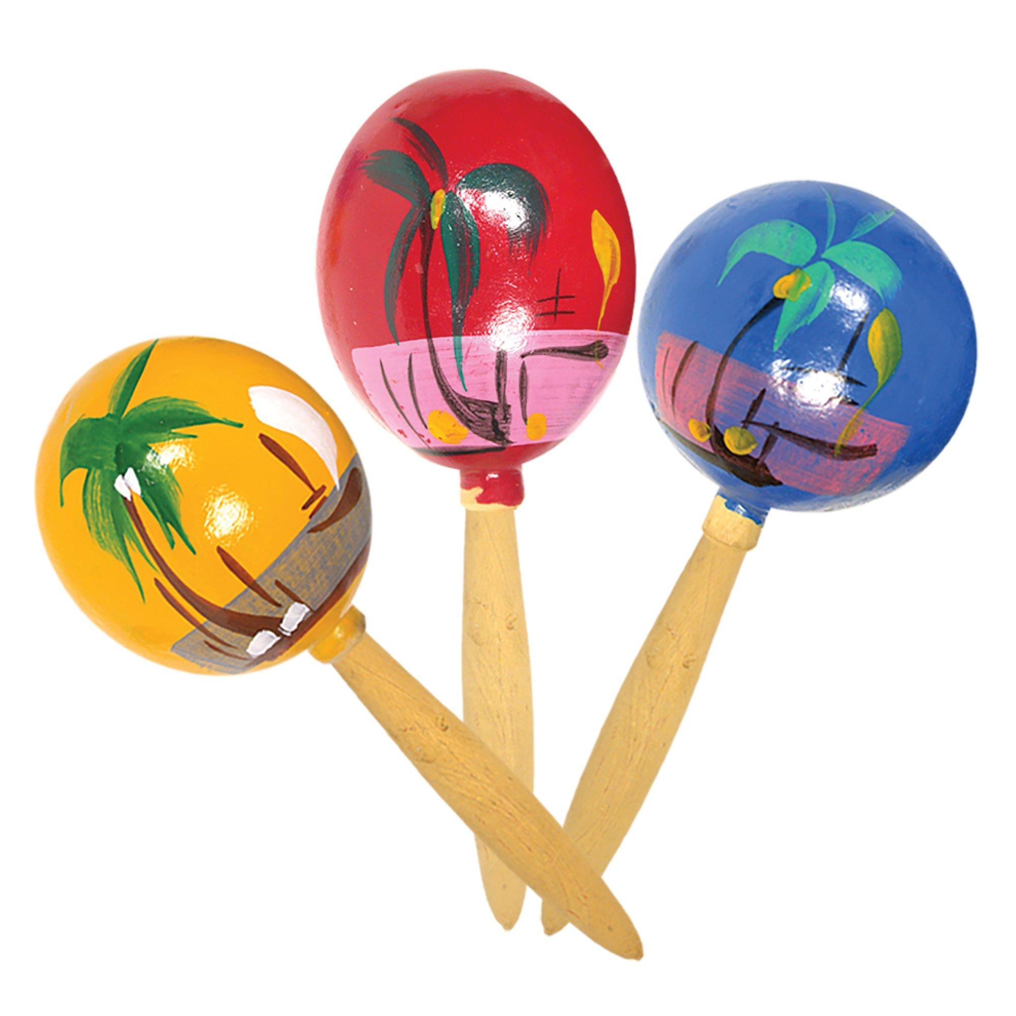 "Rhode Island Novelty 7/"" Genuine Mexican Maracas Pack of 2 Colors May Vary"