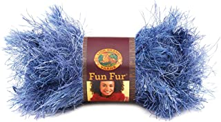 Lion Brand Yarn 320-203A Fun Fur Yarn, Indigo