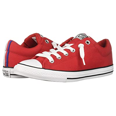Converse Kids Chuck Taylor All Star Street Sport Webbing Slip (Little Kid/Big Kid) (Enamel Red/Black/White) Boys Shoes