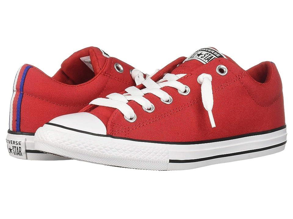 Converse Kids Chuck Taylor All Star Street Sport Webbing Slip (Little Kid/Big Kid) (Enamel Red/Black/White) Boys Shoes