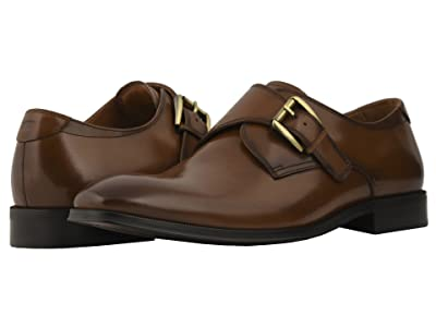 Florsheim Belfast Plain Toe Monk Strap (Cognac Smooth) Men