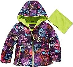 Pistachio Toddler & Girls Graffiti Peace Love Smile Puffer Jacket Coat