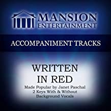 written in red accompaniment track