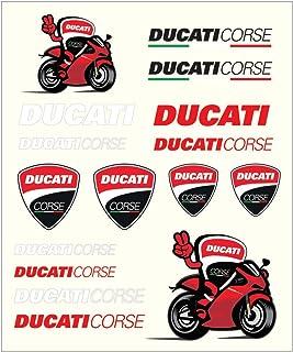 03fd39417d Pritelli 1856011 Set Autocollants Stickers Ducati Corse, Moyen