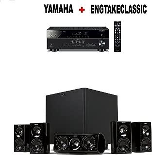 Yamaha RX-V485BL 5.1-Channel 4K Ultra HD AV Receiver + Klipsch HDT-600 Home Theater System Bundle