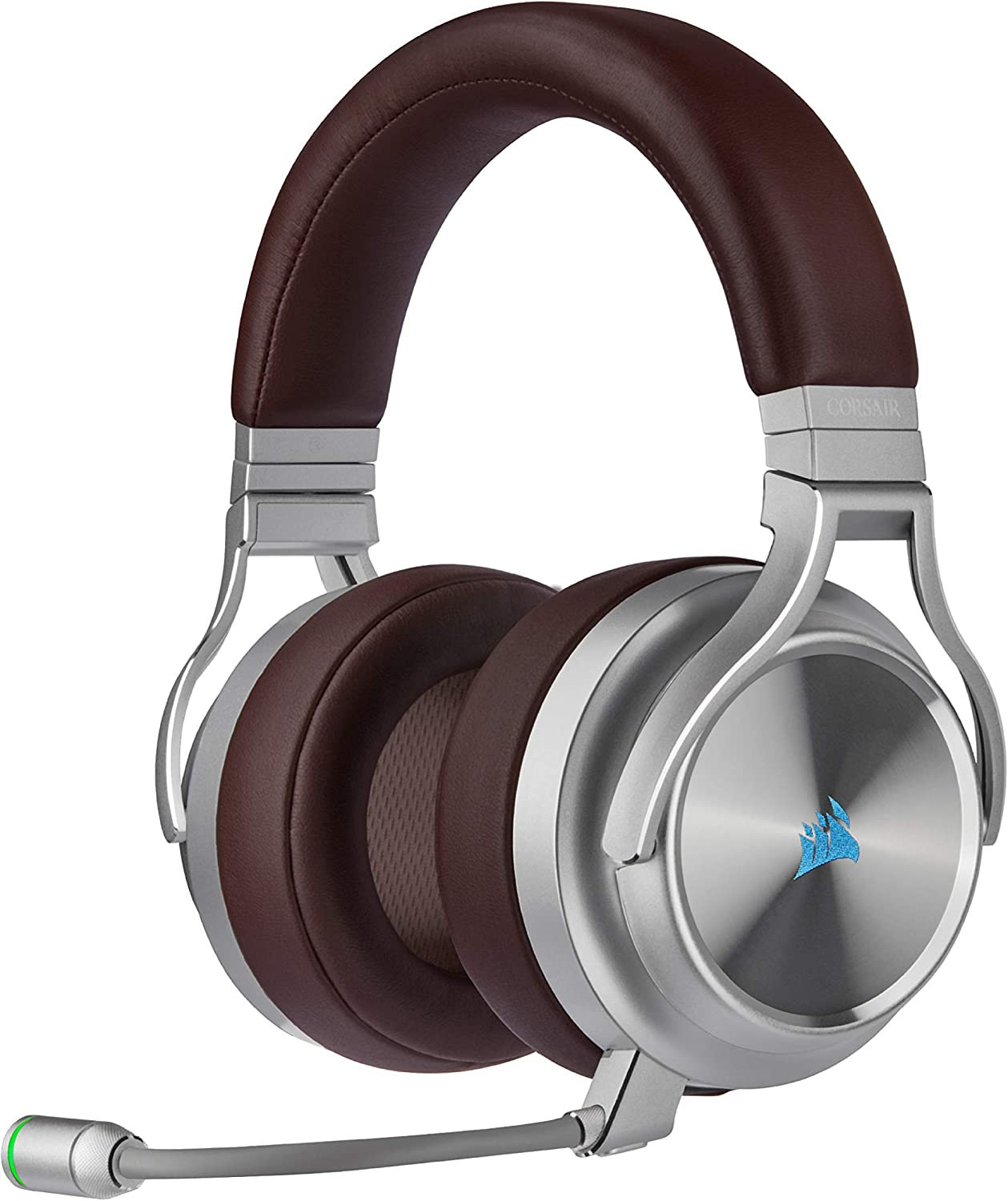 Corsair Virtuoso RGB Wireless SE Gaming Headset - High-Fidelity 7.1 Surround Sound W/Broadcast Quality Microphone, Memory Foam Earcups, 20 Hour Battery Life, Works w/PC, PS5, PS4 - Espresso: Computers & Accessories