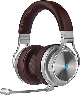 Corsair Virtuoso RGB Wireless SE - Auriculares de Diadema con micrófono de Calidad de emisión, 20 Horas de duración de la batería, Funciona con PC, PS5, PS4, Xbox One, Espresso