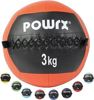 POWRX - Wall Ball de 2 a 10 kg - Ideal para Cross Training y fortalecimiento Muscular - Peso y Color a Elegir