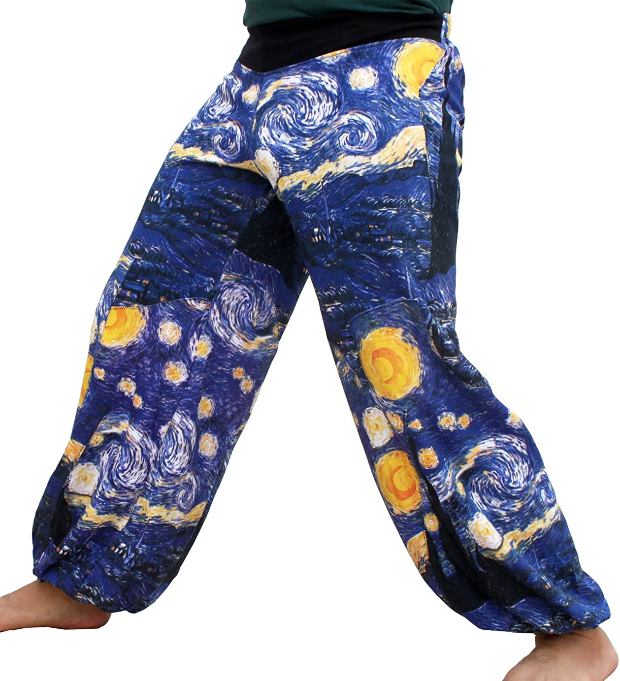 RaanPahMuang Brand Miami Mall Full Patch Billowy Pants Starry The Van List price Gogh