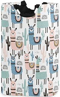CaTaKu Panier à linge en forme d'animal lama, panier à linge en forme de cactus, grande boîte de rangement, étanche, facil...