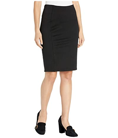 Liverpool Reese High-Rise Pencil Skirt in Stretchy Stripe Knit (Black) Women