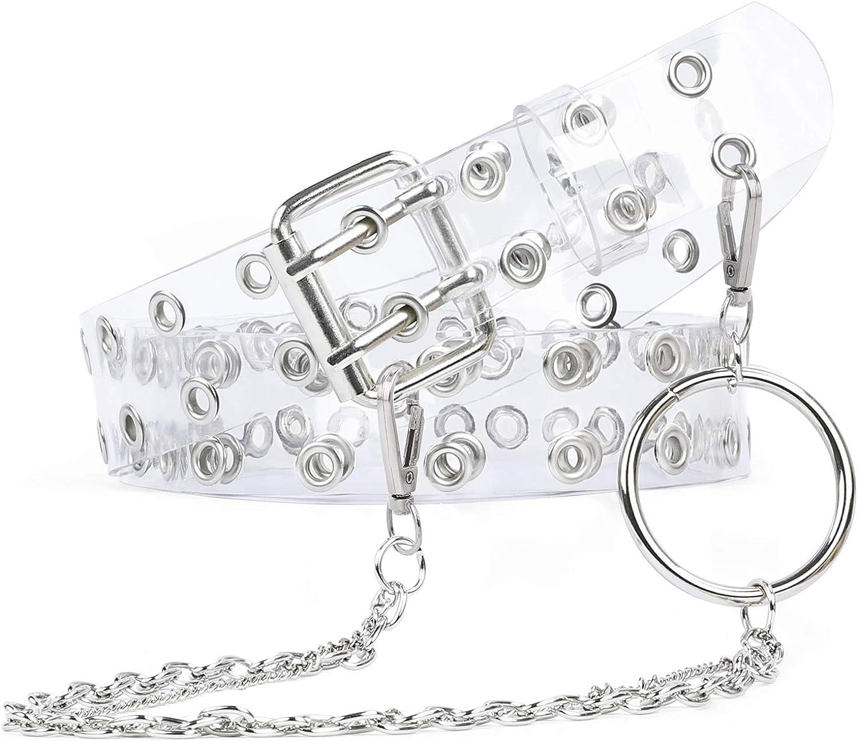 in PVC trasparente per feste di Halloween adolescenti e ragazze con fori per donne WERFORU Cintura trasparente con doppio occhiello