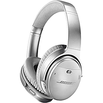 Bose QuietComfort 35 II Wireless Bluetooth Headphones, Noise-Cancelling, with Alexa Voice Control -Silver