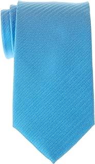 Retreez Micro Herringbone Striped Woven Microfiber Men's Tie - Various Colors