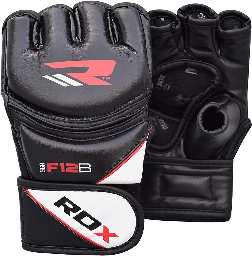 飛び込む障害者賞賛RDZG252 RDX グラップリング オープンフィンガーグローブ GGRF-12 黒