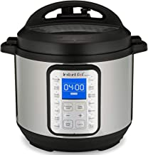 Instant Pot Duo Plus60 9-in-1 Multi-Use Programmable Pressure Cooker 5.7 litre (6-Quart), INP-112-0029-01, Black/Chrome, 1 Year Warranty