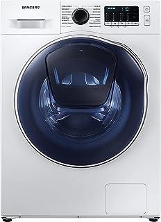 Samsung Waschtrockner WD8NK52K0ZW/EG, SLIM Platzsparer - Nur 45 cm tief, AddWash™, SchaumAktiv-Technologie, AirWash, Hygiene-Dampfprogramm, Digital Inverter Motor, Trommelreinigung, 8/5 kg, Weiß