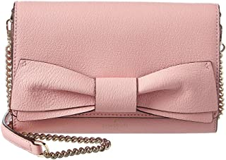 Olive Drive Agnes Bow Leather Crossbody, Pink