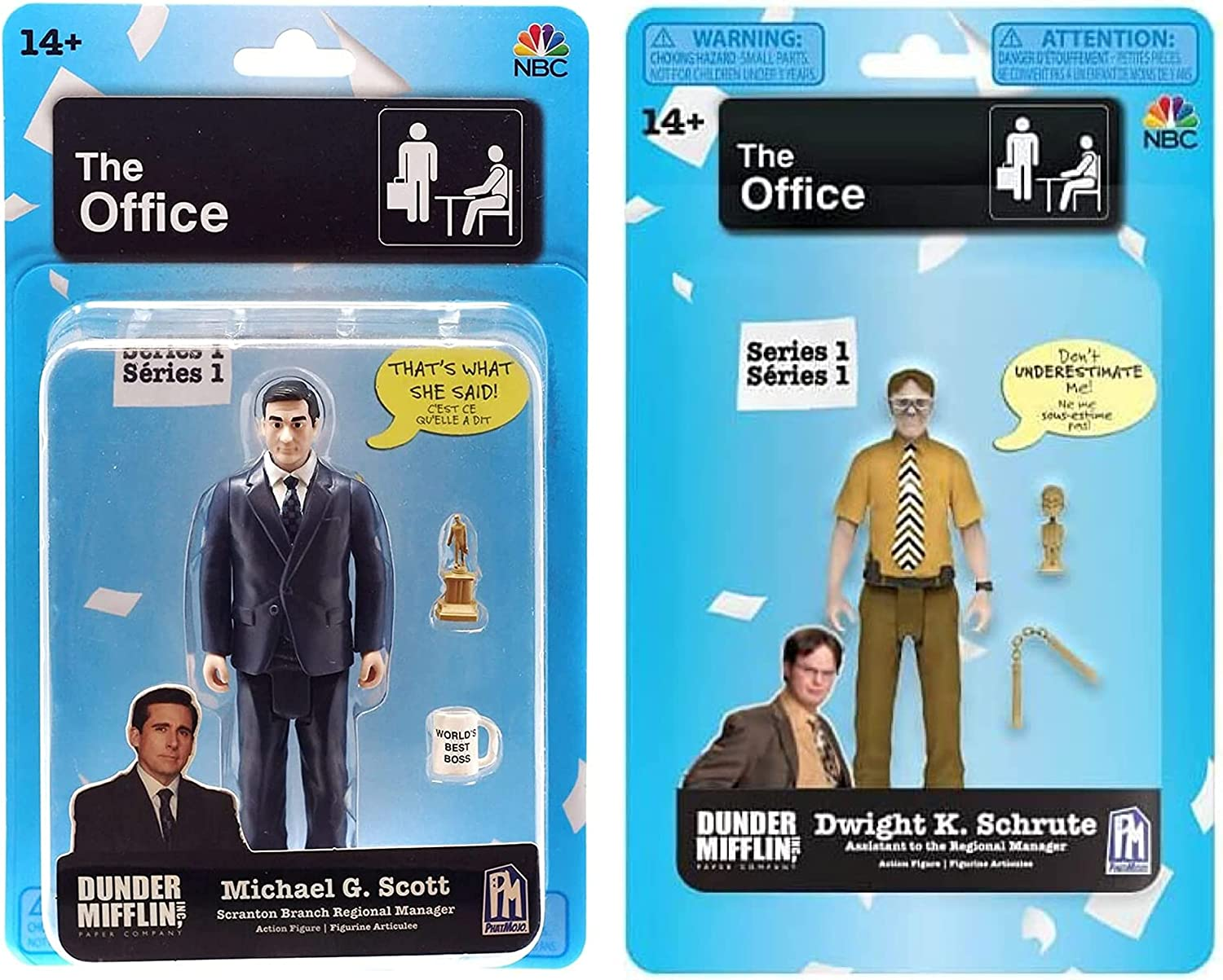 The Office TV Show - Michael Scott and Dwight Schrute Action Figures - 2 Pack